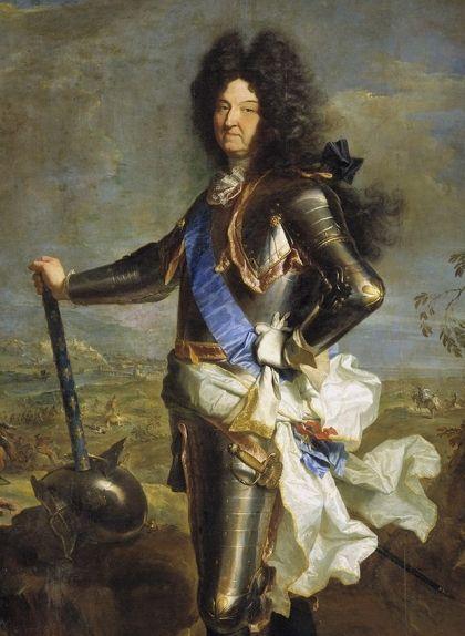 Lluís XIV amb la seva armadura