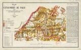 Mapa de les catacumbes de París del 1857