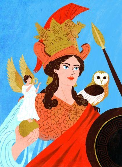La deessa Atena era la patrona d'Atenes