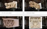 Escultures de Pere Jou situades a les façanes exteriors del Palau i el Museu de Maricel, a la plataforma Sketchfab