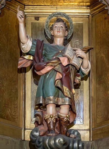 El sant, a la capella de Sant Pancraç i Sant Roc de la catedral de la Santa Creu i Santa Eulàlia de Barcelona