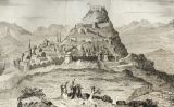 Il·lustració del segle XIX de Morella, la ciutat on va morir Margarida de Montferrat