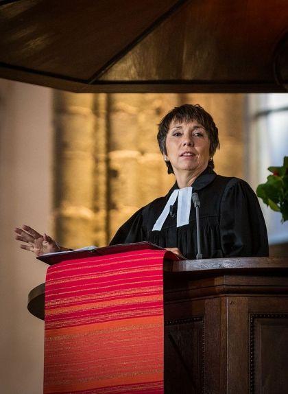 Margot Kässman a l'església de Sant Tomàs d'Estrasburg el 31 d'octubre de 2015