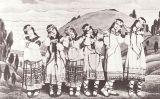 Grup de ballarines que va participar en l'estrena de 'La consagració de la primavera' d'Igor Stravinsky