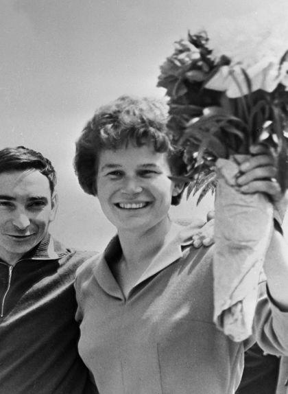 Valentina Tereixkova i Valeriy Bykovskiy el 20 de juny de 1963