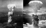 El núvol nuclear provocat per les bombes atòmiques llançades sobre Hiroshima (esquerra) i Nagasaki