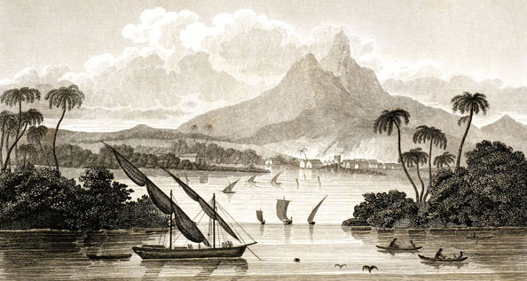 View of the Port of Black River in the Territory of Poyais