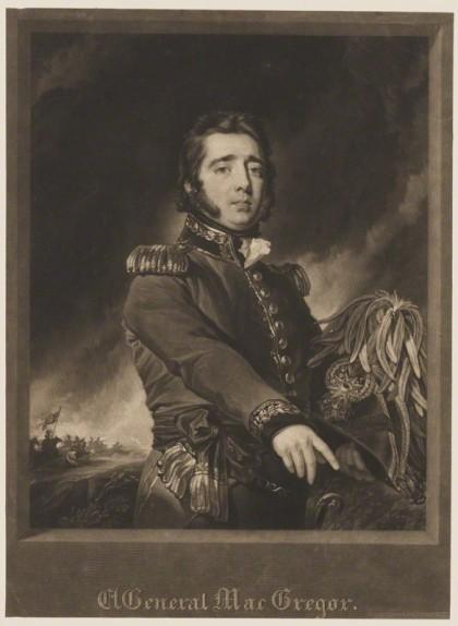 Retrat de Gregor MacGregor que es conserva a la National Portrait Gallery de Londres