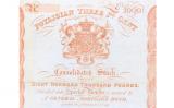 Encapçalament del certificat de compra d'accions de Poyais