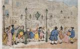 """Una ullada als llums de gas de Pall Mall"", una caricatura de Thomas Rowlandson del 1809"