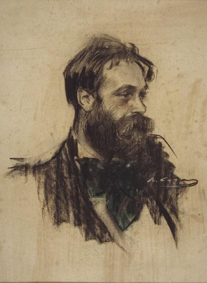 Retrat de Joaquim Mir fet per Ramon Casas i conservat al MNAC