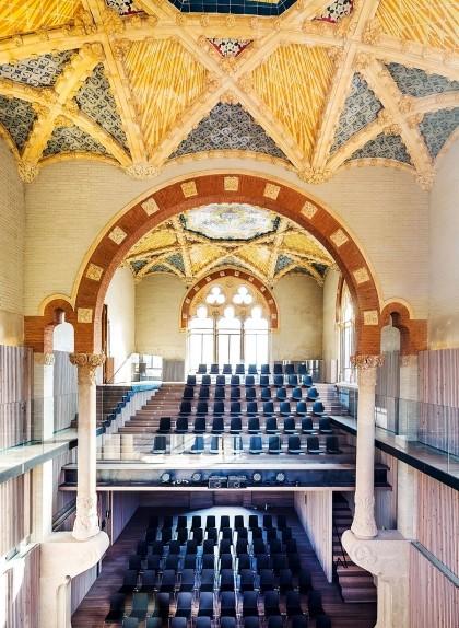 La sala Pau Gil del Recinte Modernista de Sant Pau, el lloc on abans hi havia l'antic arxiu