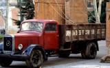Recreació d'un dels camions militars que va transportar obres d'art durant la Guerra Civil per a l'exposició 'Arte Salvado', del 2010