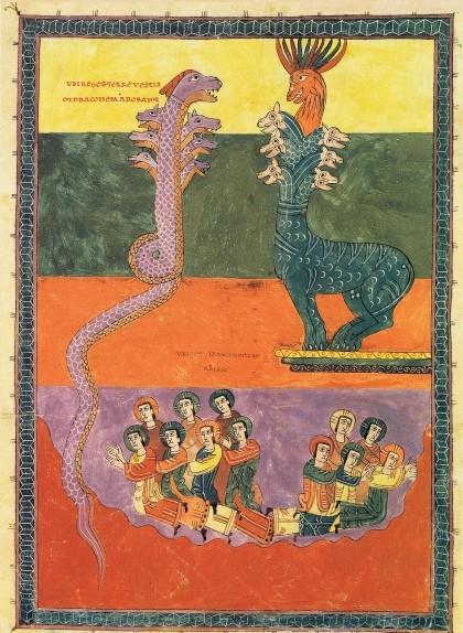 Una de les il·lustracions del 'Beatus' de Girona