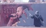 Mural a Cardedeu en contra de l'empresonament de Pablo Hasél
