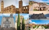 Els finalistes de 'Batalla monumental' i les dues catedrals: la Seu Vella de Lleida i Santa Maria de Girona