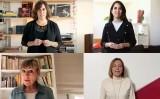 Clara Segura, Laura Rosel, Mari Pau Huguet i Carme Forcadell ens han enviat vídeos de suport